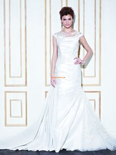 Hof-Schleppe Taft Reißverschluss Brautkleider 2014