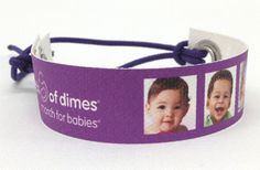 Preemie photo bracelet for the March of Dimes - March for Babies OR just because you want the swag.
