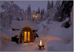 Snowy hideaway