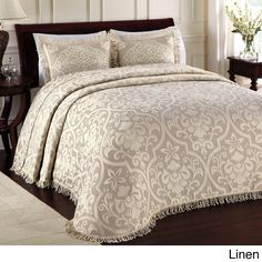 Lamont Home All Over Brocade Standard Pillow Sham In Blue - Create a sophisticated bedding ensemble with this Lamont Home All Over Brocade Standard Pillow Sham. It features the same beautiful brocade pattern and fringed edging as the bedspread. Bedding Sets, Queen Bedding, King Comforter Sets, Bedding Collections, Bed Spreads, Luxury Bedding, Bedroom Decor, Ideas, Vestidos