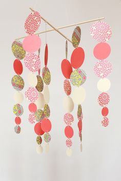 circle mobile #paper #mobile. this is beautiful ...note to self must make!