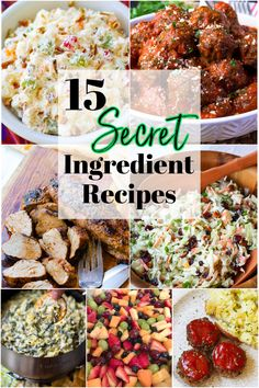 """Secret ingredients can take a simple recipe from good to incredible! Each of these 15 recipes has a flavor-boosting ingredient that turns them into a showstopper and will have everyone asking """"how'd you make this?"""" Frugal Meals, Quick Easy Meals, My Favorite Food, Favorite Recipes, Southern Potato Salad, Easy To Make Appetizers, Southern Recipes, Southern Food, Southern Style"""