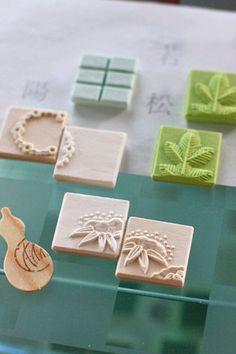 From the front 'Fuuka' upper right 'Wakamatsu' upper left 'Ichiyo' Japanese Treats, Japanese Food Art, Matcha, Desserts Japonais, Japanese Wagashi, Japanese Tea Ceremony, Macarons, Edible Art, Confectionery