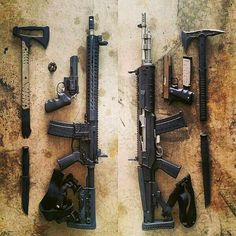 Zombie gear. Best of both rifle platforms! AR & Mini 14.