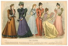 1895-1898, Plate 147. The Metropolitan Museum of Art, New York. Costume Institute. Fashion plates, 1700-1955 Costume Institute Fashion Plates. #perfectparty   #socialite | Fashion matters with friends.