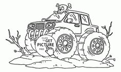 car monster truck off road coloring page off road car car coloring pages