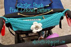 Stroller pouch free #crochet pattern from AlliCrafts
