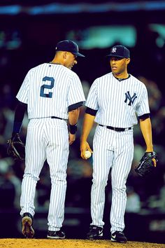 Jeter and Mo!! Goodbye to the greats!!