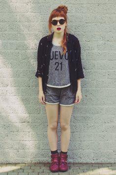 Sheinside Vest + Short, Mango Shirt, Deena Shoes