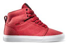 botines vans rojos