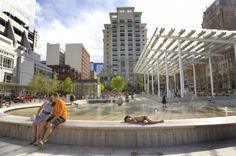 Almost a year after the $9.5 million European-inspired plaza opened in the block bounded by Southwest Yamhill and Taylor streets and Ninth and Park avenues, residents and visitors alike appear smitten.