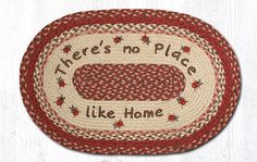 OP-012 No Place Like Home Oval Patch Rug