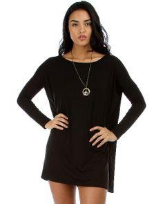 CS Black LYSS Loo Oversized Tunic Dress - RA2-D1804