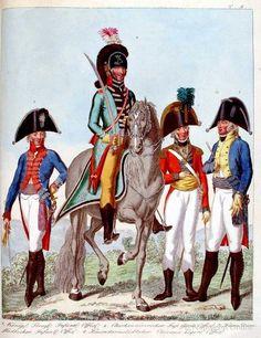 1 - Preussen: Infanterieoffizier 2 - Hannover: Offizier der Gardeinfanterie 3…