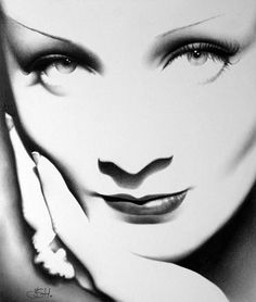 Marlene Dietrich Print Pencil Drawing.. I am impressed with this woman's drawing skills on etsy.