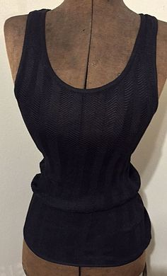 Dolce & Gabbana Maglie Mesh Tank Top Size 8 Designer Couture Great for Layering!
