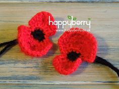 How To - Crochet a Remembrance Day Poppy