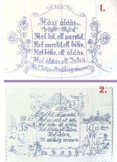 6090SZ0838-42 HÁZI ÁLDÁS NAGY Hungarian Recipes, Home Deco, Proverbs, Folk, Bullet Journal, Paintings, Embroidery, Retro, Glass
