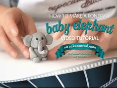 elephant cakes decorated marshmellow fondant | How To Create a Fondant Elephant Tutorial on Cake Central