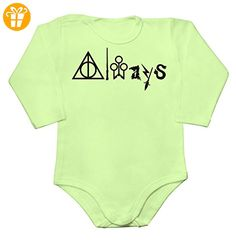 Always - Word Made Out Of Magical Symbols Baby Long Sleeve Romper Bodysuit Small - Baby bodys baby einteiler baby stampler (*Partner-Link)