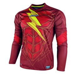 Rinat Bolt NEW Goalkeeper Jersey (Adult Medium). Official licensed product of Rinat. Colorful goalkeeper jersey with light forearm padding Moisture wicking technology to keep sweat off the skin. Goalkeeper, Motorcycle Jacket, Soccer, Medium, News, Side Panels, Jackets, Clothes, Collection
