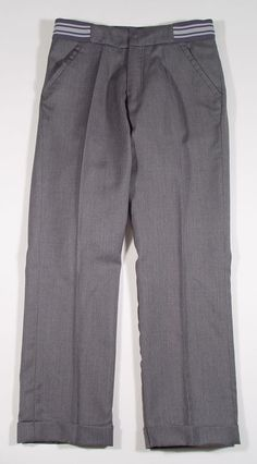Dior Boys Grey Wool Check Dress Pants