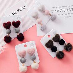 Heart Earrings, Crochet Earrings, Jewelry, Fashion, Stud Earrings, Moda, Jewlery, Bijoux, La Mode