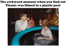 Awkward moments 145733737914609664 - The awkward moment when you find out Titanic was filmed in a plastic pool… Source by hurstsneh Titanic Funny, Titanic Movie Facts, Titanic Quotes, Movie Memes, Lol, Oui Oui, Awkward Moments, Leonardo Dicaprio, Laugh Out Loud