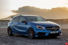 This Mercedes AMG Is Appropriately Named 'Blue Magic' Pics & Video - Autos Online Mercedes G Wagon, Mercedes Maybach, Mercedes Hatchback, Mercedes Sport, Classe A Amg, Carl Benz, Automobile, Lamborghini, Ferrari