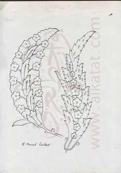 Motif Design, Swirl Design, Hand Embroidery Designs, Embroidery Patterns, Islamic Patterns, Turkish Art, Black And White Drawing, Drawing Skills, Tile Art