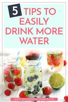 Have a hard time getting in the amount of water you need for the day? Click through for these 5 Tips to Easily Drink More Water. Proper Nutrition, Nutrition Guide, Nutrition Plans, Health And Nutrition, Health And Wellness, Smart Nutrition, Nutrition Chart, Cheese Nutrition, Vegan Nutrition