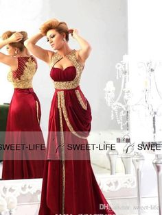 2015 Vintage Mother of the Bride Dresses Mermaid Chiffon Burgundy Runway Gold Embroidery Plus Size Arabic Evening Gowns Prom Formal Dresses Online with $127.72/Piece on Sweet-life's Store | DHgate.com
