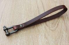 Leather Key Chain Bracelet Keychain Wrist by Monkeychain196, ฿438.00