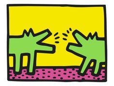 Pop Shop (Dogs) Print by Keith Haring at Art.com    $12.99  16x12