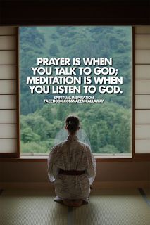 I do meditative prayer in the morning it has been a very real game changer in the last few weeks and I must say, there are no truer words than this quote. I thought my friend was crazy, turns out I've been missing the other side of prayer!