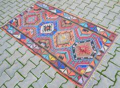 Anatolia-Turkish-Rug-3-x-6-Vintage-Hand-Woven-Bright-Kilim-Actual-39-x-70