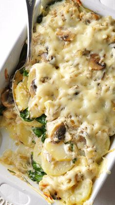 Scalloped Potatoes with Mushrooms