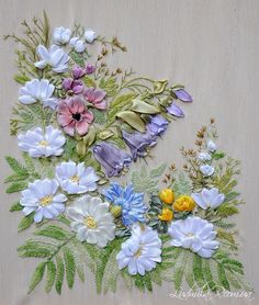 Ribbon embroidery by Ludmila R. #SilkRibbonEmbroidery