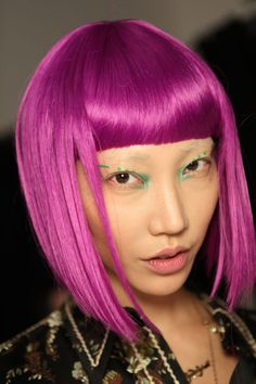 Colours ranged from techno purple to acid green, babydoll pink and cerulean blue.