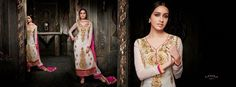 Sparkling and Impressive Georgette Straight Cut Suit with Chiffon Dupatta and Santoon bottom to reflect your passion and Presence 1209