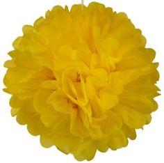 Yellow Paper Pompom