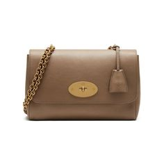 Shop the Medium Lily in Dark Beige Small Classic Grain at Mulberry.com. The Medium Lily is the larger version of the effortlessly elegant Lily bag. It has the same woven leather and chain strap, which can be worn short or long, and is finished with signature details such as the postman's lock and leather padlock fob.