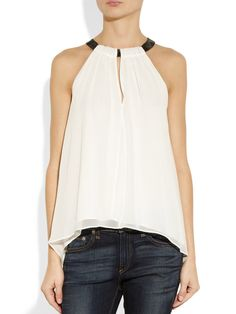 2013 White Camis Halter Chiffon Blouses Women Resort Wear Casual Shirts Sleeveless Sexy Spagetti Assymetrical Hem Tees Tank Tops-in Camis fr...