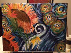 Tanya planted flowers for her second Painting after going out with friends for a paint night! Love she shared her party with us!