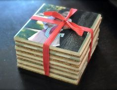 Personalized Mod Podge coasters - a perfect gift idea