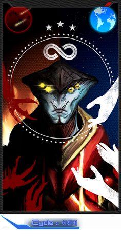 Cycle | Mass Effect Tarot Card Collaboration | http://masseffectcl.wix.com/tarotcard