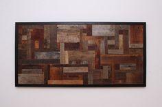 Reclaimed wood wall art 48x24x11/4 made of by CarpenterCraig, $520.00