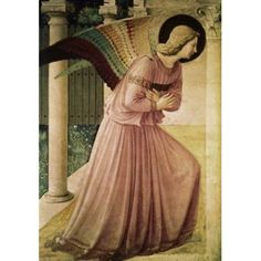 Angel of the Annunciation-Detail Fra Angelico (Guido Di Pietro) c 1400-1455 Italian Canvas Art - Fra Angelico (24 x 36)