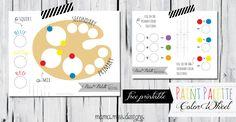 Paint Palette Color Wheel - Mama Miss