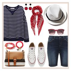 """""""Rad red"""" by kleinwillwin ❤ liked on Polyvore featuring Silver Jeans Co., Converse, Burberry, Yves Saint Laurent, Marni and Henri Bendel"""